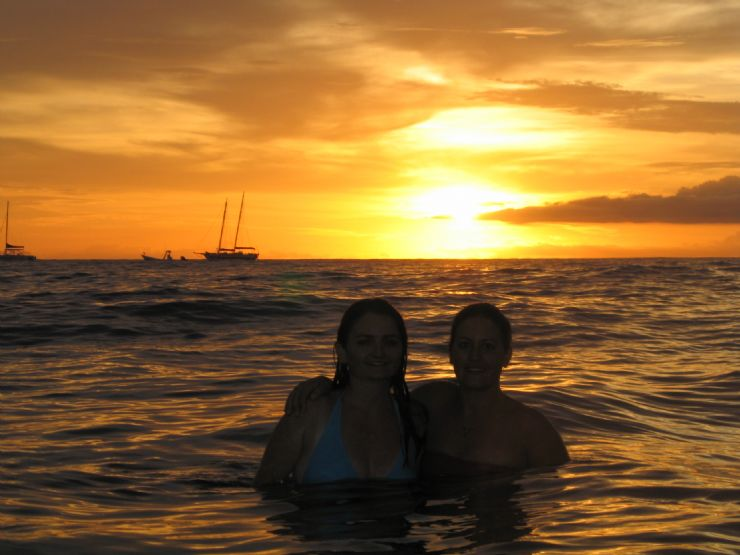Beautiful Tamarindo Sunset Girls