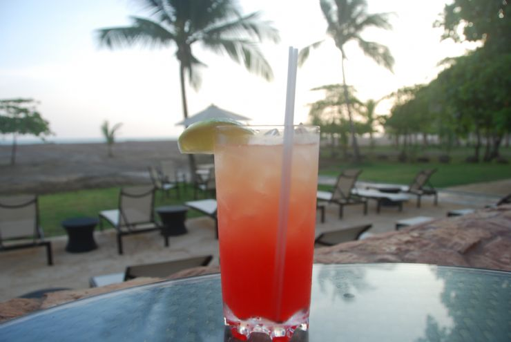 Refreshing Tequila Sunrise at the beach, Jaco