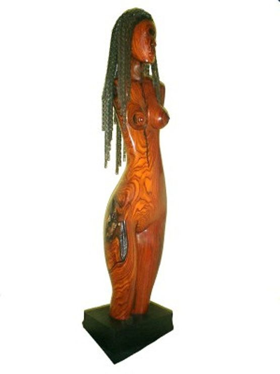 Woman wood sculpture by Tony Jimenez courtesy of www.tonyjimenez.com