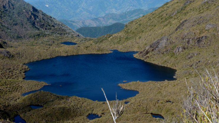 Tortilla shaped Chirripo Lake