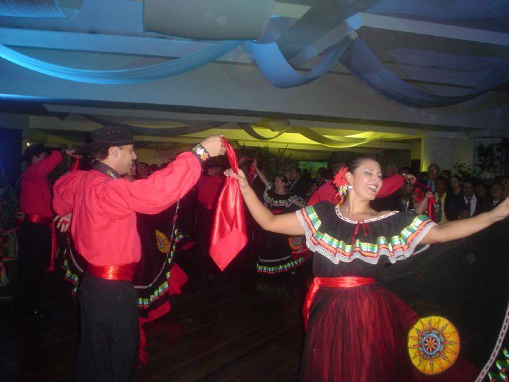 Ticos having a traditional Dance