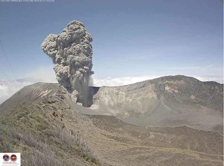 March 13th Biggest Eruption at Turrialba Volcano - Photo Credit: http://www.ovsicori.una.ac.cr