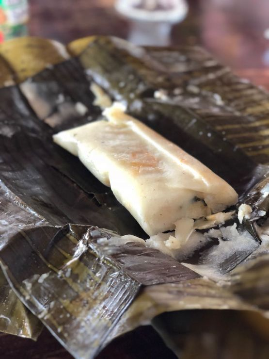 Typical Tamal in Costa Rica