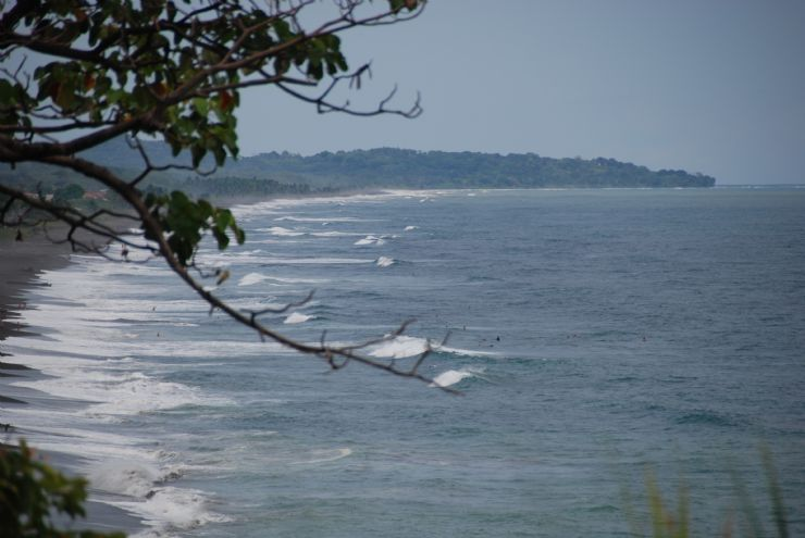Waves rolling in at Playa Hermosa