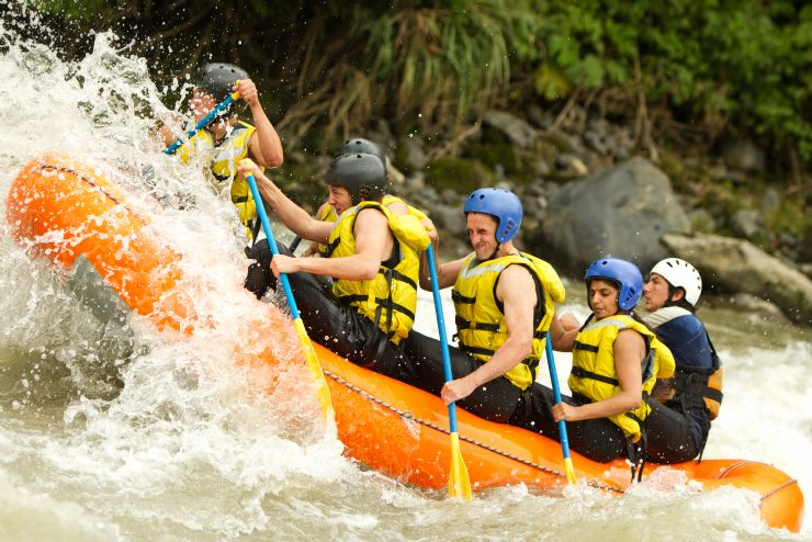 White Water Rafting on the Rio Naranjo with rapids