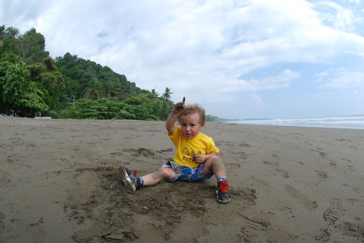 World Traveling Toddler Finds Paradise in Uvita