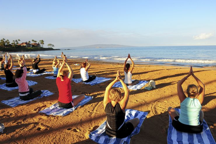 Relaxing Yoga class on Montezuma beach