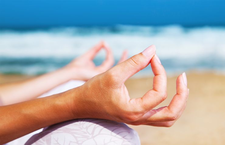 Perfect hand position on Yoga meditation