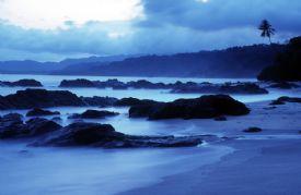 Montezuma beach at night