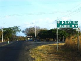 Main road to Santa Rosa, Guanacaste