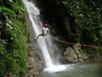 Rappel down waterfalls on a canyoning trip