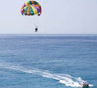 Parasailing is a thrill for the most adventurous