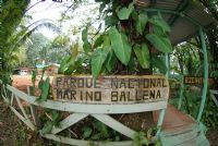 Ballena National Marine Park Entrance Sign