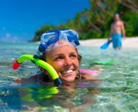 Go snorkeling in the crystal clear waters of Playa Conchal