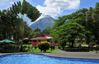 Pool with Volcano view at Arenal Country Inn