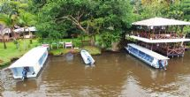Docking area at manatus Hotel, Tortuguero