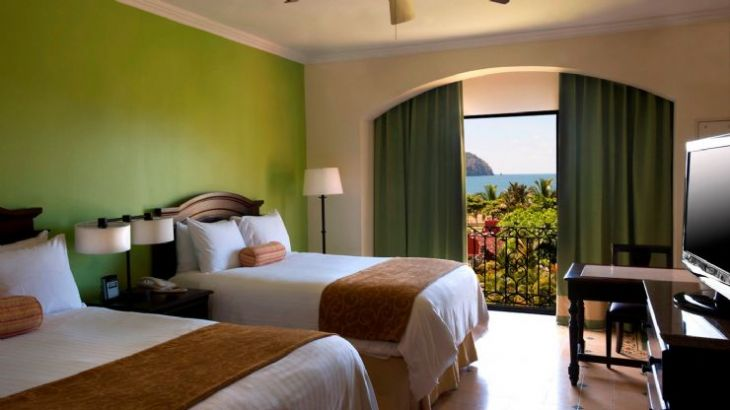 Partial ocean view room at Los Sueños Marriott Ocean & Golf Resort