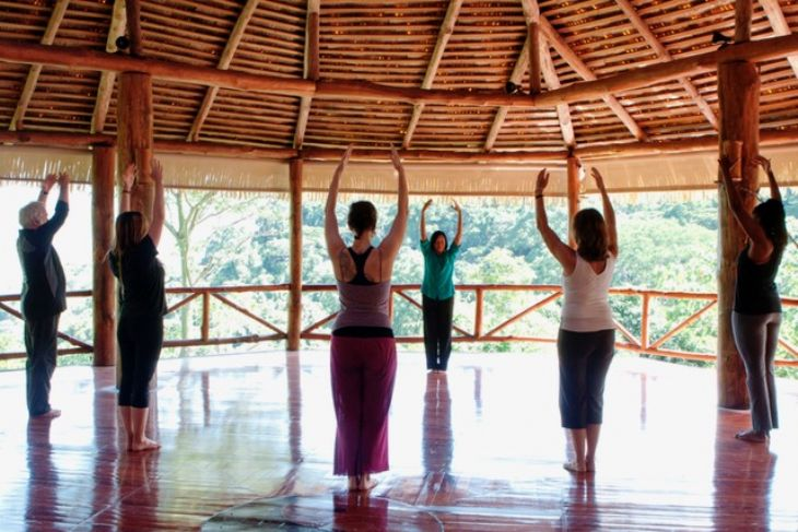 Yoga class at AmaTierra Retreat & Wellness Center